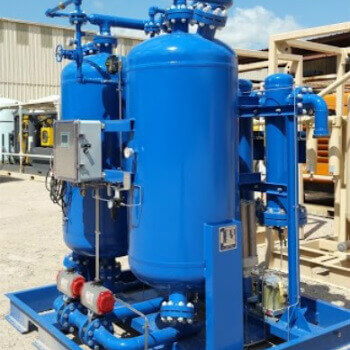 twin tower desiccant dryer for nitrogen generators