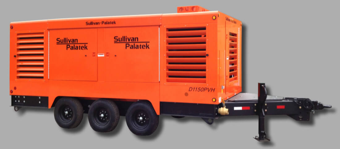 portable diesel air compressor rental